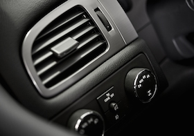 Car Air Condition Vent. Modern Car Dashboard Elements. Vehicle Interior. Air Quality.