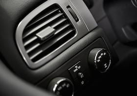 Car Air Condition Vent. Modern Car Dashboard Elements. Vehicle Interior. Air Quality.