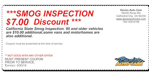 Expert Tune And Smog >> Coupon For Oil Change Company - Davies Auto Care