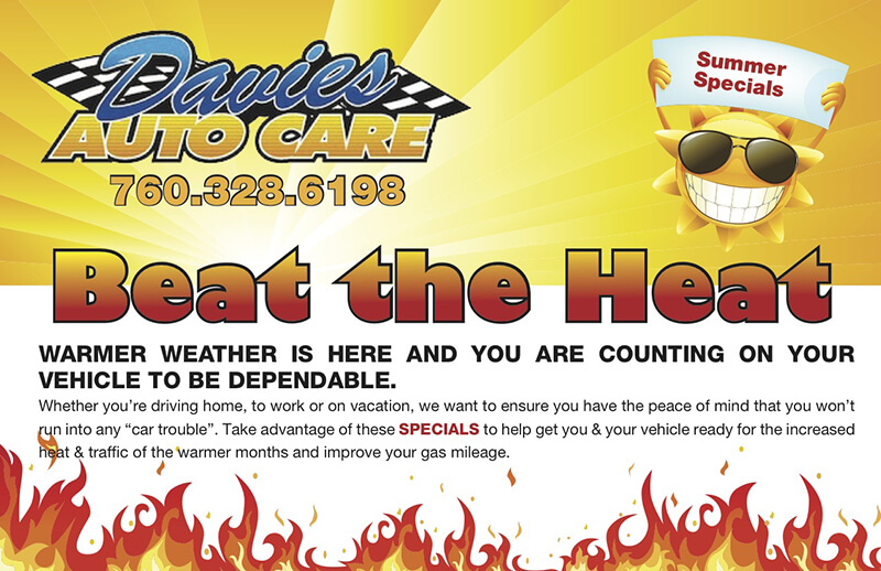 Davies Auto Care Summer Coupon - summer-coupon